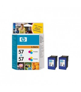 HP 57 2-pack Tri-Colour Print Cartridge (C9503AE)