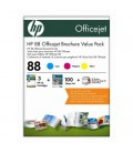 HP 88 Officejet Glossy Brochure Value Pack / 100 sht 210x297mm (CG464AE)