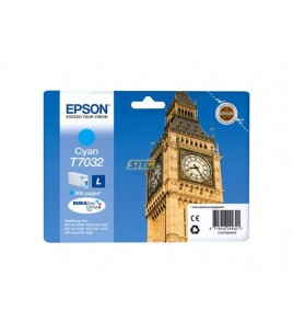 Epson T7032 for WorkForce Pro WP4000/4500 Series, Cyan (T70324010)