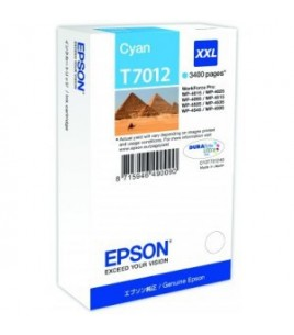 Epson T7012 XXL for WorkForce Pro WP4000/4500 Series, Cyan (T70124010)