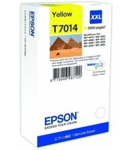 Epson T7014 XXL for WorkForce Pro WP4000/4500 Series, Yellow (T70144010)