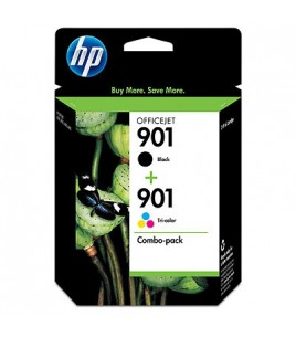 HP 2-pack of HP 901XL/901 Black/Tri-color Inkjet Print Cartridges (SD519AE)