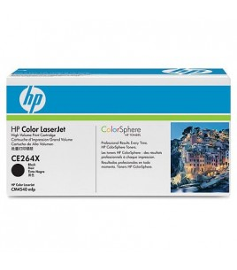 HP 646X Black High-capacity LaserJet Toner Cartridge (CE264X)