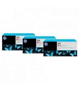 HP 771 3-pack 775-ml Chromatic Red Designjet Ink Cartridges (CR251A)