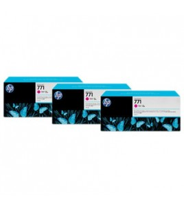 HP 771 3-pack 775-ml Magenta Designjet Ink Cartridges (CR252A)