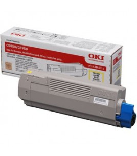 OKI Toner Cartridge Yellow (6k) for C5850/C5950, MC 560 (43865721)