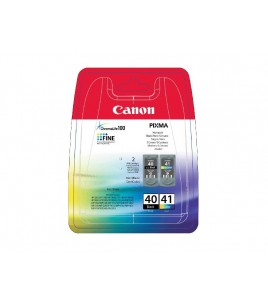 Canon Multi Pack, Black PG-40/Color CL-41 Ink Cartridge (0615B043)