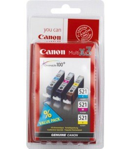 Canon Multi Pack, CLI-521 C-M-Y Ink Cartridges (2934B007)
