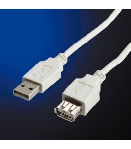 Roline USB Cable Type A-A M/F V. 2.0   0.8 m (11.99.8946)