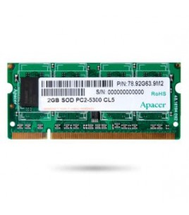 Apacer 512MB DDR2 667MHz (PC-5300) CL5 SO-DIMM