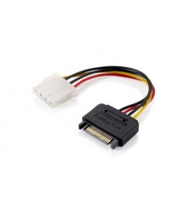 Equip Power Cable SATA 15-pin/F to Molex 4-pin/F, 0.15m (112058)