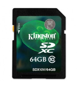 Kingston 64GB SDXC Class 10 Flash Card (SDX10V/64GB)