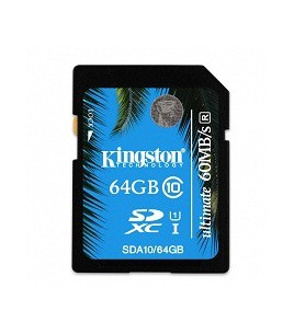 Kingston 64GB SDXC Class 10 UHS-I Ultimate Flash Card (SDA10/64GB)
