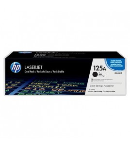 HP 125A Black Dual Pack LaserJet Toner Cartridges (CB540AD)