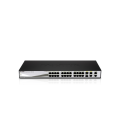 D-Link DES-1210-28 Web Smart 24-Port 10/100 Switch, with (2) 10/100/1000BASE-T Ports and 2 Combo SFP Slots