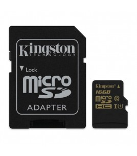 Kingston microSDHC 16GB Class 10/UHS-I with Adaptor (SDCA10/16GB)