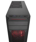 Corsair Carbide Series SPEC-02 Red LED Mid-Tower Gaming Case (CC-9011051-WW)